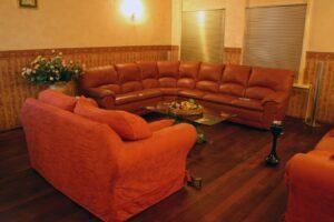 leather reclining sofa set